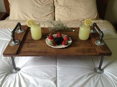 Rustic Industrial Pallet Bed Tray Father's by DunnRusticDesigns, $130.00