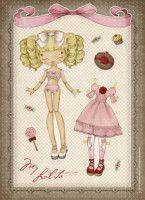 Gallery.ru / Фото #54 - Бумажные куклы - Tawa