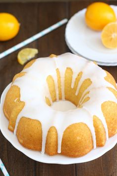 Glazed Meyer Lemon Buttermilk Bundt Cake by Traceys Culinary Adventures