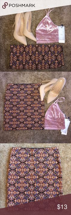 Printed Skirt Brand new. Never worn. Tags fell off. Forever 21 Skirts Mini