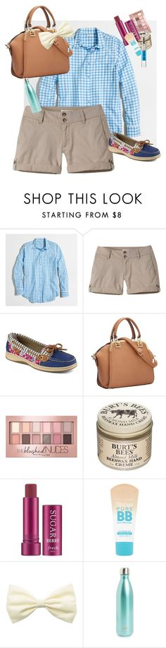 """Love the shoes!"" by amaizylife ❤ liked on Polyvore featuring J.Crew, Mountain Khakis, Sperry, Maybelline, Burt's Bees, Fresh, S'well and Comptoir Sud Pacifique"