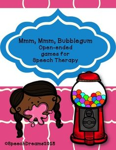 Mmm, Mmm Bubblegum! Open ended speech therapy games