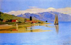 The Port of Pully - Felix Vallotton, 1891