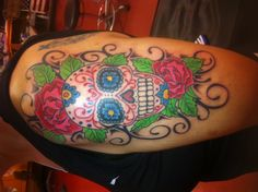 My Sugar Skull Tattoo