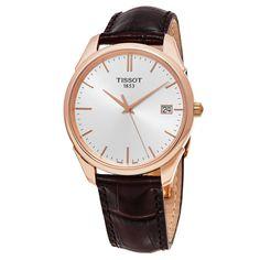 Tissot Men's T920.410.76.031.00 'Vintage T Gold' Dial Brown Strap Swiss Automatic Watch