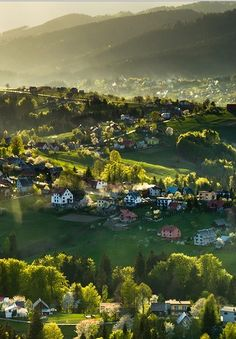 A village in the Beskid Mountains, Poland
