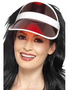 Red Style Sun Unisex Adult Halloween Visor Costume Accessory - One Size 1980s Fancy Dress, Adult Fancy Dress, 1980s Dresses, Sun Visor Hat, Visor Hats, 1980s Costume, Costumes, Poker, Star Wars