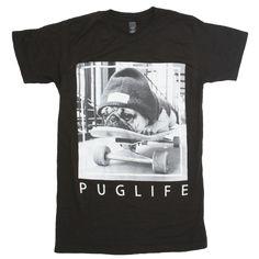 Pug Life Black Tee