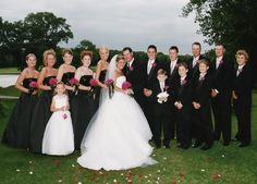 black and white and silver wedding party - Google Search