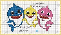 Small Cross Stitch, Cross Stitch For Kids, Cross Stitch Baby, Cross Stitch Animals, Cross Stitch Bookmarks, Counted Cross Stitch Patterns, Cross Stitch Charts, Cross Stitch Embroidery, Broderie Simple