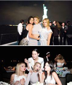 March 30th: Gigi Hadid, Bella Hadid, Cara Delevingne, Kendall Jenner, Nicola Peltz, and Hailey Baldwin on the Chanel Cruise in NYC.