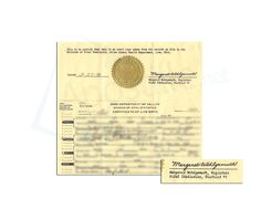 This is a sample of an ohio birth certificate acceptable for state of ohio birth certificate issued by margaret wohlgamuth yelopaper Gallery