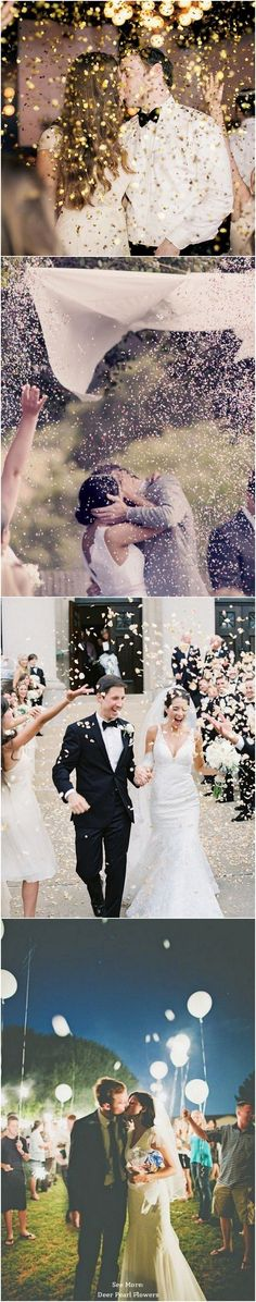 glitter wedding exit toss / http://www.deerpearlflowers.com/wedding-exit-send-off-ideas/