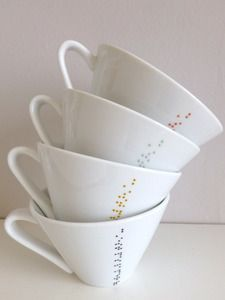 braille cups.