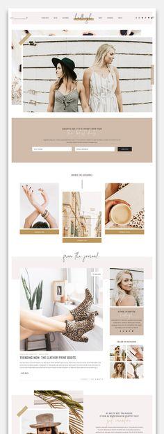 Blog & Shop Theme on Behance