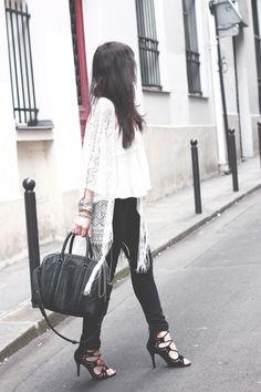 Kimono-dentelle-franges-Primark-Sac-Lucrezia-Givenchy-Sandales-lacets-Choies
