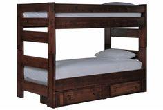Sedona Twin/Twin Bunk Bed W/2- Drawer Storage Unit