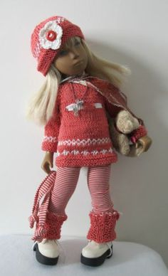 •●·✿*✿•● Sasha Doll 'Sunset Kisses' OOAK Clothing Set - •●·✿*✿•● Smocked Dresses, Sasha Doll, Knit Wear, Doll Outfits, American Girl Clothes, Knitted Dolls, Doll Shoes, Doll Stuff, Babysitting