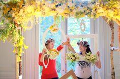 Arche de cérémonie réutilisable en cadre pour photobooth.  Réalisée pour le Lab Oui².  Retrouvez mes compositions florales sur www.drissia.fr et www.facebook.com/pages/drissia