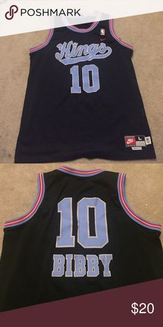 Mike Bibby Jersey Men's 87 Nike Team Sports NBA Sacramento Kings Mike Bibby #10 Stitched Jersey L. Condition 10/10 brand new Nike Shirts Tank Tops