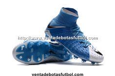 online store 1145d cf674 Shop Botas De Futbol Nike Niños Hypervenom Phantom III 3 DF FG - Azul Foto
