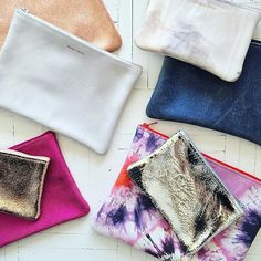 for anything & everything. in the best textures & colors. tracey tanner pouches. #scarpaclassic