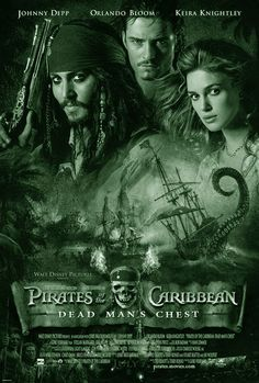 PIRATES OF THE CARIBBEAN - DEAD MEN'S CHEST: Een Amerikaanse fantasy/avonturenfilm uit 2006, geregisseerd door Gore Verbinski. Het is de eerste sequel van Pirates of the Caribbean: The Curse of the Black Pearl. Het script is geschreven door Ted Elliott en Terry Rossio. De hoofdrollen worden wederom vertolkt door Johnny Depp, Orlando Bloom, Keira Knightley en Bill Nighy. De film was de meest succesvolle film van 2006.