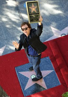 Paul McCartney during his Walk Of Fame ceremony