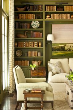 Study/Library at 2013 Southern Living Idea House | #SLIdeaHouse | Architecture: Historical Concepts | Interiors: Phoebe Howard | Photo: Laurey W. Glenn