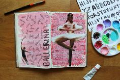 @laurenhooper | Ballerina | Season of Words | Get Messy Art Journal