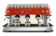 "Brasilia 400BD3S460001 Excelsior 3 Group . $15390.00. Traditional art decorative 3 group professional espresso machine with retro Italian design. Spacious worktop where each element of the barista's equipment finds comfortable space. Patented Rossi Brewing System with dynamic pre-infusion and independently adjustable temperature for each group. Also features the patented ""Bullone Rosso"" brewing system with steady temperature devices for perfect thermal stability. Progra..."
