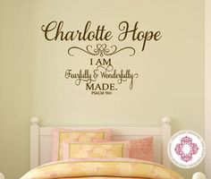 Baby Nursery Wall Decal  I am Fearfully and by openheartcreations, $45.00