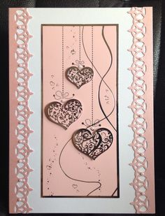 Pretty pink Valentine's Day/ love card...quick but effective.