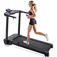 Merax Easy Assembly Folding Treadmill Motorized Running Jogging Machine (Black. Strength Training Equipment, Training Plan, No Equipment Workout, Fitness Equipment, Occupational Therapy Equipment, Physical Therapy, Running Machines, Cardio Machines
