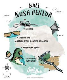 Things to do on a Nusa Penida tour (guide) #Nusa #Penida #route #map #bali #beautiful #island #beach #cliffs #kelingking #broken #manta #rays #travel #traveling #backpack #backpacking #blog #saltinourhair