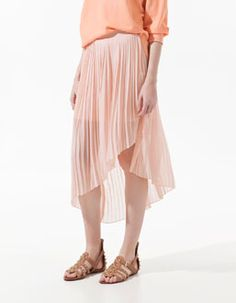 pleated skirt. Very chic, anytime.