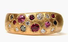 Katherine Bowman 18ct rose gold 'Random' ring