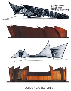 Gallery of The Crescent / Sanjay Puri Architects - 23 - Estudos Architecture ideas Conceptual Sketches, Conceptual Architecture, Architecture Drawings, Landscape Architecture, Interior Architecture, Orange Architecture, Windows Architecture, Library Architecture, Architecture Diagrams