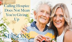 "If you feel that calling hospice means that's ""the end"", then there are aspect of hospice care you're unfamiliar with.  It's associated with the end of life, and that gives it a bad wrap to those who may be in need of it. Accepting the..."