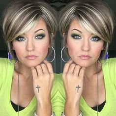 cool short hairstyles ideas for women in 2019 62 Cool Short Hairstyles, 90s Hairstyles, Bandana Hairstyles, Short Hair With Layers, Layered Hair, Short Hair Cuts, Hair Color And Cut, Haircut And Color, Medium Hair Styles