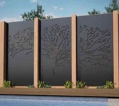 Enjoy your relaxing moment in your backyard, with these remarkable garden screening ideas. Garden screening would make your backyard to be comfortable because you'll get more privacy. Landscaping Trees, Privacy Landscaping, Backyard Privacy, Large Backyard, Backyard Fences, Backyard Trees, Garden Fencing, Balcony Privacy, Gravel Garden