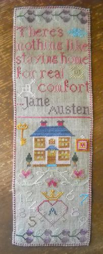 """Cross Stitch pattern : The Sampler Girl : At Home with Jane Austen  """"There's nothing like staying home for real comfort"""""""