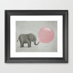 Jumbo Bubble Gum  Framed Art Print by Terry Fan