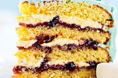 Blueberry jam layer cake