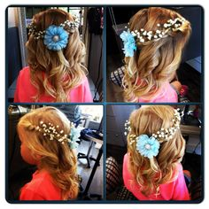 Flower girl hair by Stylist Nathalie  To book with Nathalie call Society the Salon today at 250-861-6606  #societythesalon #society #wedding #weddinghair #flower #flowergirl #flowergirlhair #curls #halfuphalfdown #kelowna #kelownastylist