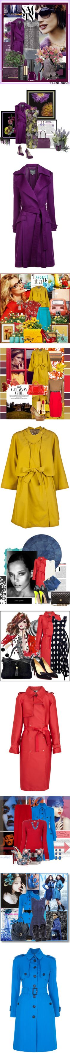 """""""Colored Trench Coats"""" by sylandrya ❤ liked on Polyvore"""