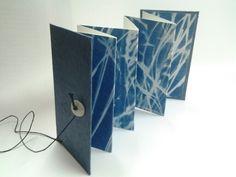 Livre d artiste, cyanotype, Carole Penin Book art
