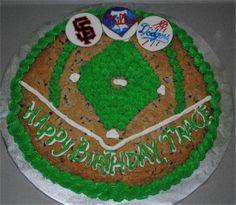 Baseball Chocolate Chip Cookie Cake