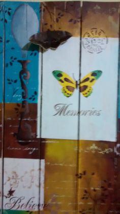 Tentei reproduzir o projeto da Mayumi, ela não viu, mas, eu acho que a borboleta aprovou...rs