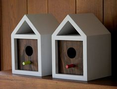 Nest boxes by Nathan Daniels to provide stylish and hip homes for local birds displaced by deforestation